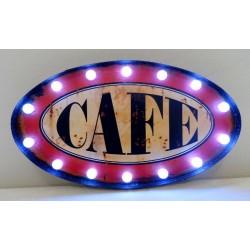 Pannello targa caffè con luci luminoso elettrico metallo