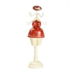 Manichino vestito rosso pois porta collane anelli portagioie