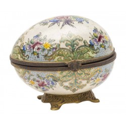 Cofanetto barocco in porcellana bronzo uovo