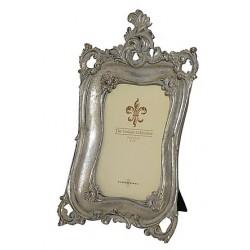 Portafoto cornice 28cm barocco porta foto silver argento