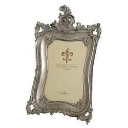 Portafoto cornice 30cm barocco porta foto silver argento