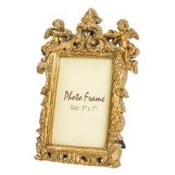 Cornice portafoto barocco resina oro angeli foglie fotografie