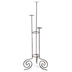 Portacero 108cm ferro battuto portacandele candeliere