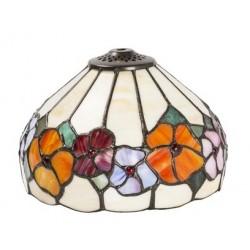 Paralume stile Tiffany 20cm fiori decorato lampada ricambio