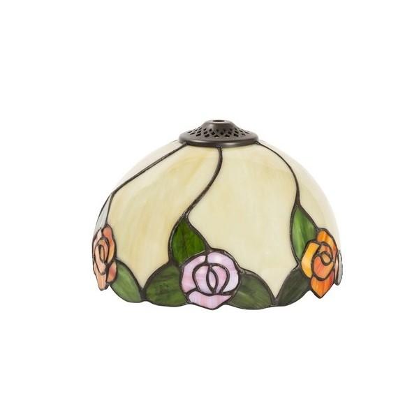 Paralume stile Tiffany 20cm fiori rose lampada ricambio