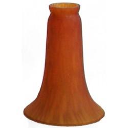 Paralume 10cm vetro 10cm calice ambra ricambio lampada lampadario