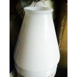 Paralume vetro 11cm cono bianco ricambio lampada lampadario