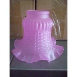 Paralume vetro 11cm liberty rosa ricambio lampada lampadario