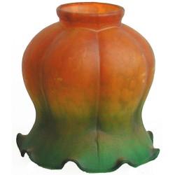 Paralume 11cm vetro petunia ambra verde ricambio lampada