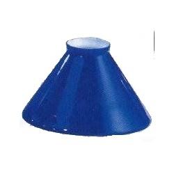 Paralume 15cm vetro cono blu ricambio lampada lampadario