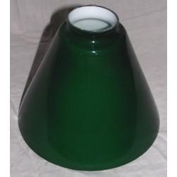 Paralume 17cm vetro cono verde ricambio lampada alto