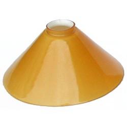 Paralume 25cm vetro cono ambra ricambio lampada lampadario