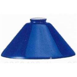 Paralume 25cm vetro cono blu ricambio lampada lampadario