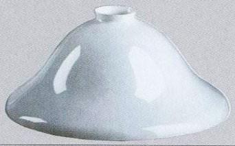 Campane Vetro Per Lampadari.Paralume 30cm Vetro Campana Bianco Ricambio Lampada Lampadario
