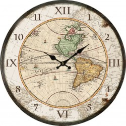 Orologio da parete 34cm mappamondo vintage mappa mondo