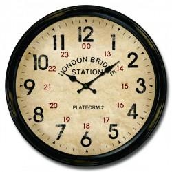 Orologio da parete 34cm cornice stazione Londra London England
