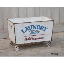 Cesta trolley lavanderia portabiancheria vintage industrial
