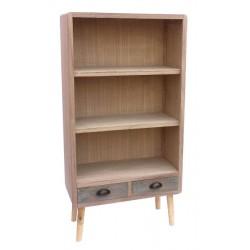 Libreria 125cm legno shabby chic fusion con 2 cassetti