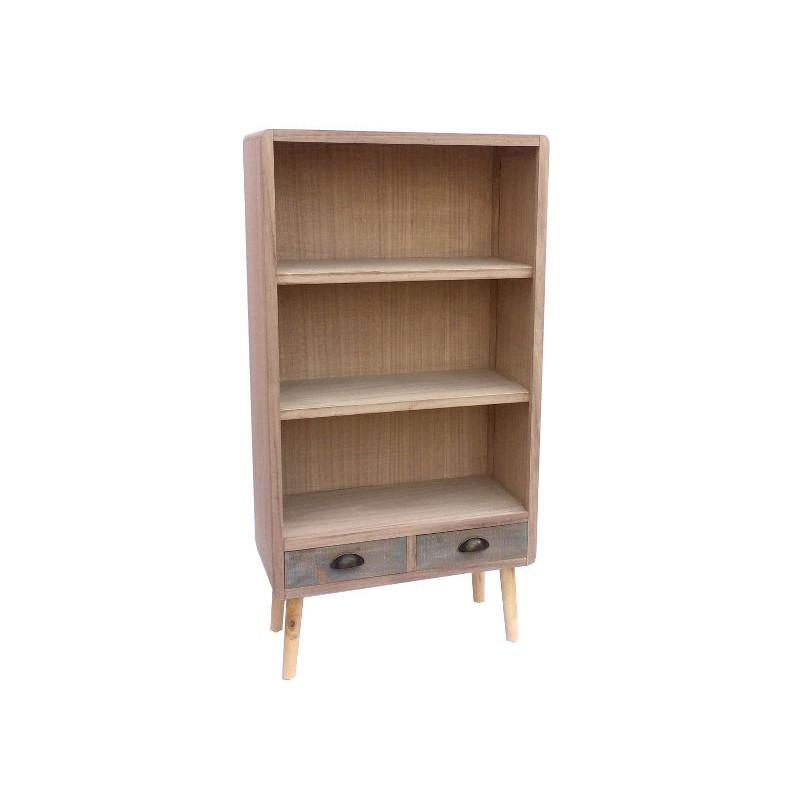 Libreria 125cm legno shabby chic fusion con 2 cassetti - Virginia\'s ...