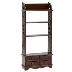 Libreria legno mogano 4 cassetti in legno salotto arredamento