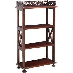 Libreria legno noce 93cm legno salotto arredamento etagere