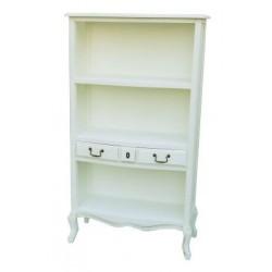 Libreria mobile sala 143cm legno bianco etagere