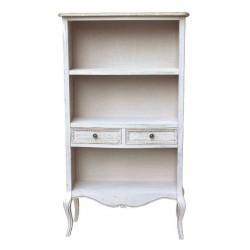 Libreria mobile sala 143cm legno bianco tortora etagere