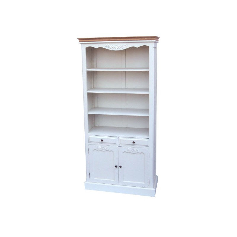 Libreria mobile sala credenza legno bianco etagere for Mobile sala bianco