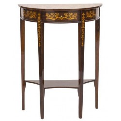 Consolle tavolo legno noce 70cm vintage mobile ingresso