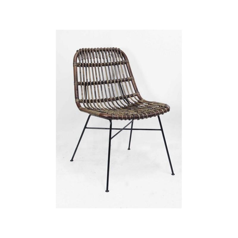 Sedie In Midollino.Sedia Poltrona Vintage Vimini Design Rattan Giardino Casa Marrone Virginia S Cottage