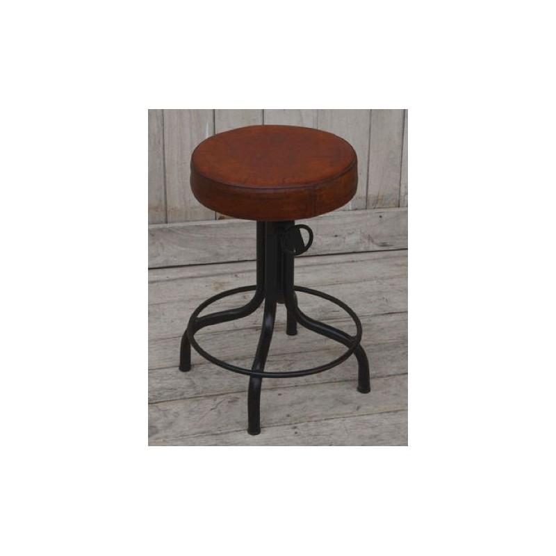 Sgabelli In Pelle Per Cucina.Sedia Sgabello Pub Bar Cucina Industrial Metallo Pelle 54cm Vintage Virginia S Cottage