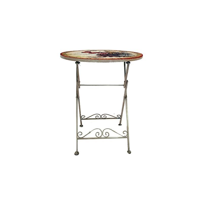 Tavolo Ferro Battuto.Tavolino Tavolo Ferro Farfalle Battuto Giardino Casa 60cm Virginia S Cottage