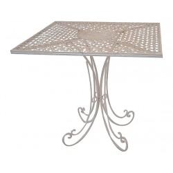 Tavolino tavolo ferro rosone giardino casa vintage anticato