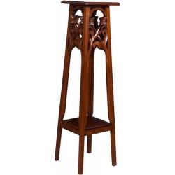 Trespolo 115cm legno noce portavaso mobile marrone