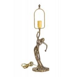 Base per lampada 60cm in ottone brunito tavolo donna