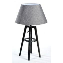 Lampada da tavolo 53cm legno paralume tessuto shabby chic tavolo