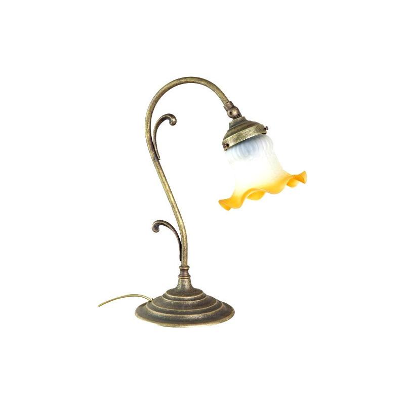 Lampada Da Scrivania In Ottone.Lampada Da Tavolo Ottone Brunito Vintage 36cm Abatjour Comodino Virginia S Cottage