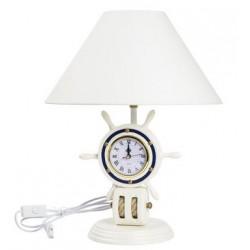 Lampada timone orologio bianca blu mare nautica marino