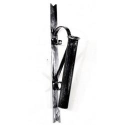 Porta bandiera torcia ferro battuto chiuso medioevale gotico