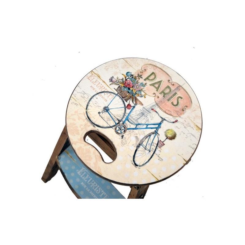 Scala scaletta decorativa sgabello legno casa cucina for Scaletta decorativa
