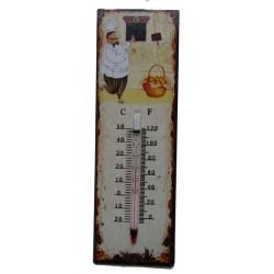 Termometro metallo shabby chic casa giardino cuoco