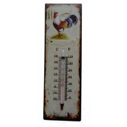 Termometro metallo shabby chic casa giardino casa gallo galletto