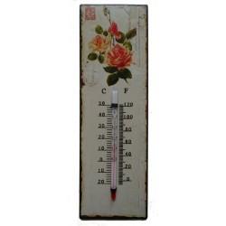 Termometro metallo shabby chic casa giardino casa rose fiori