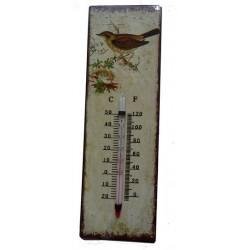 Termometro metallo shabby chic casa giardino casa uccellino