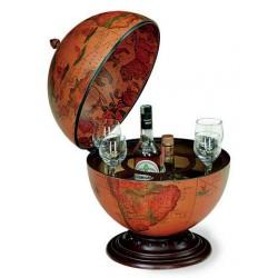 Contenitore bottiglie mappamondo appoggio bar minibar legno