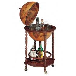 Contenitore bottiglie mappamondo bar minibar ripiano rotelle