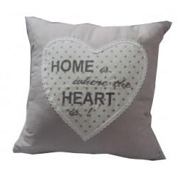 Cuscino divano arredo casa tessuto cuore shabby chic