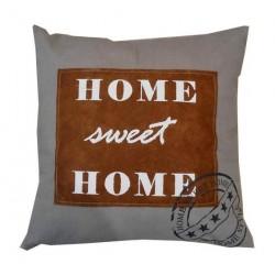 Cuscino divano arredo casa tessuto home sweet home shabby chic