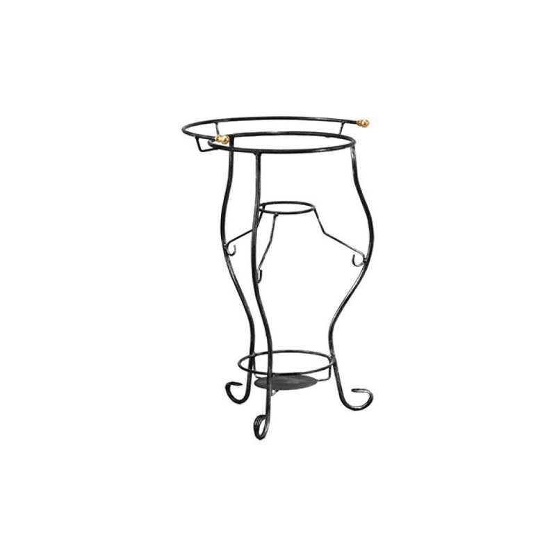 Portacatino in ferro battuto vintage con pomoli in ottone