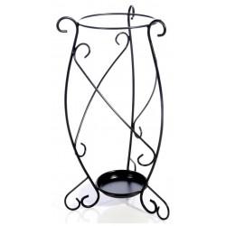 Porta ombrelli in ferro battuto italiano nero portaombrelli